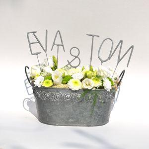 Svatební prskavky - dekorace na svatební stůl. Wedding sparklers.