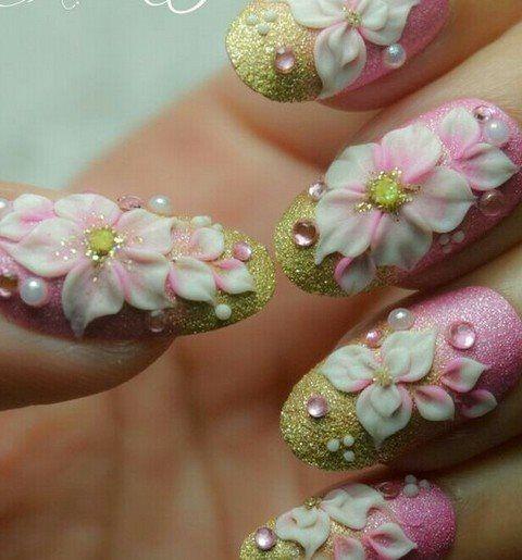 3d Acrylic Flowers Nail Art For 2015