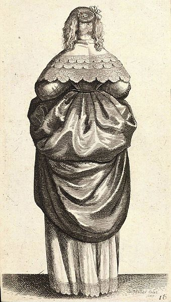 File:Wenceslas Hollar - Lady with fair hair, from the back (State 1).jpg