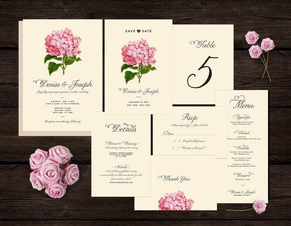 Botanical Wedding Invitation Set Kit Suite By HeartsRoots On Etsy