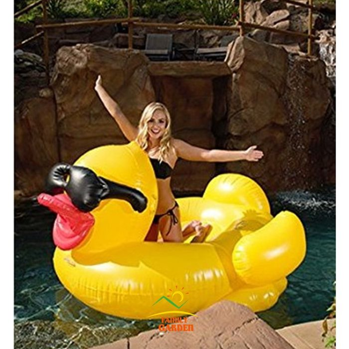 Aufblasbare Gelbe Ente Schwimmen Reiter Auf Pool Spielzeug Schwimmt Spaß Floß Luftmatratze Boia Piscina
