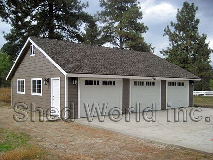 Detached garage google search garages pinterest for 30x40 shop with loft