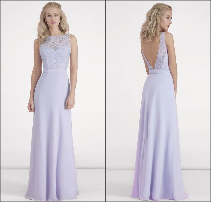 Lilac Bridesmaid Dresses 2016 Chiffon Long Lace Top Backless Sheer Neck Wedding Party Gowns With Sash Cheap Dress For Girls One Strap Bridesmaid Dresses Stunning Bridesmaid Dresses From Firstladybridals, $61.56| Dhgate.Com