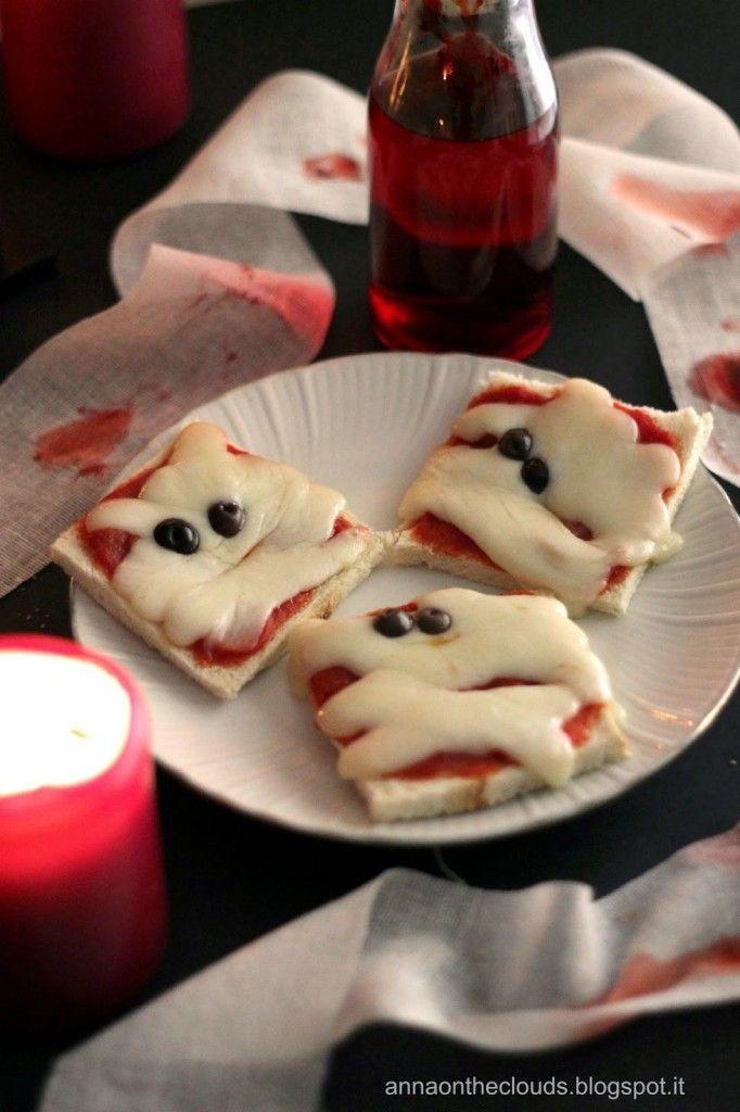 Pizzette fantasma per Halloween