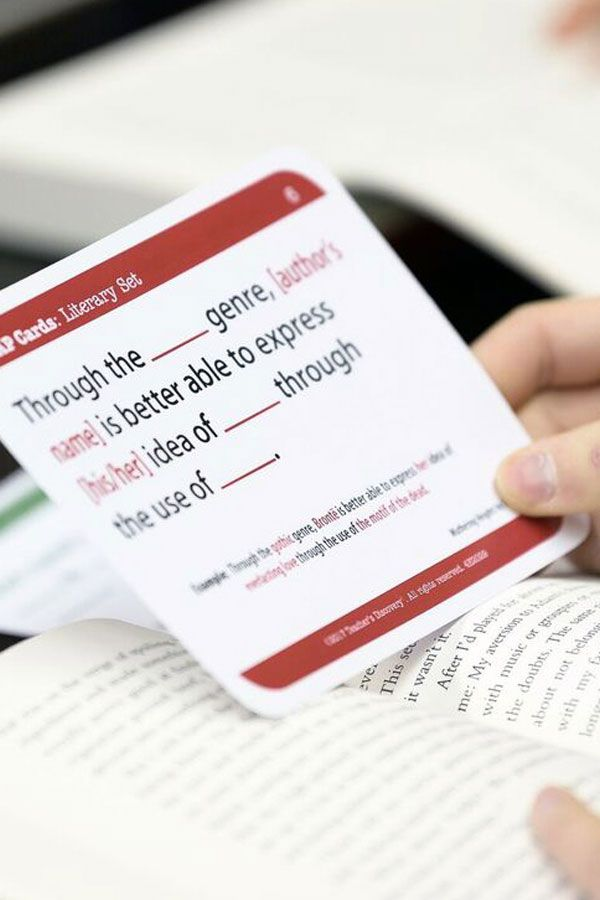 Tap Cards Literary Text Card Set For High School Text Analysis Literary Text High School Ela Classroom