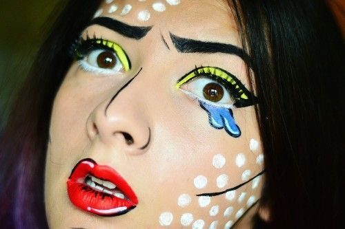 Halloween makeup, popart makeup