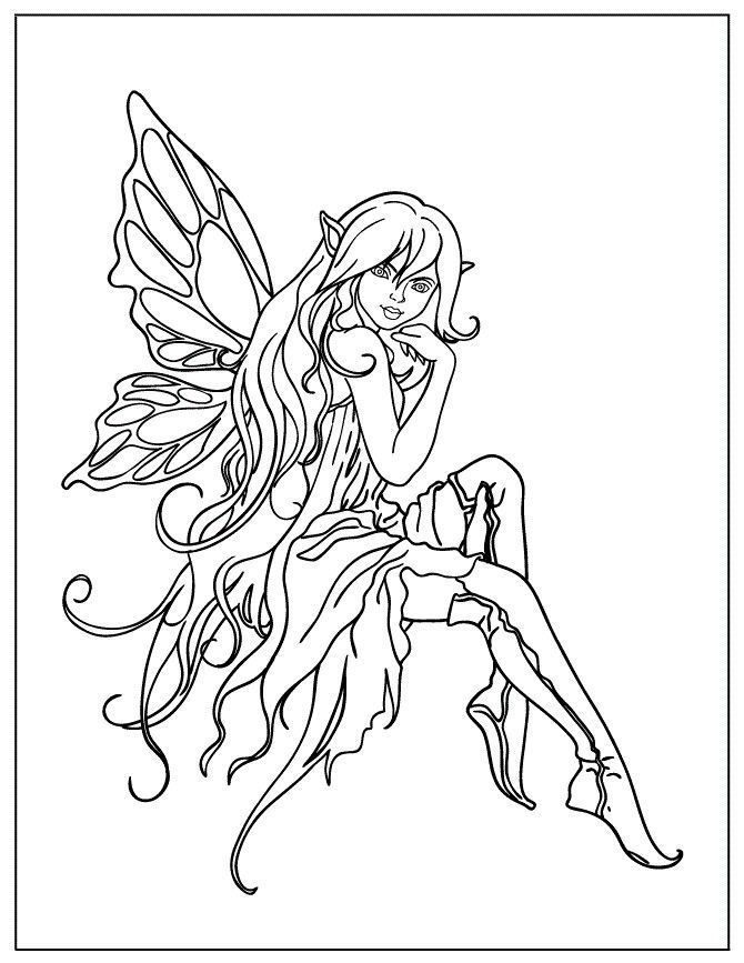 Tooth Fairy Colouring In Beautiful Fairies Colouring Pages Color Fairy Coloring Book Fairy Coloring Pages Fairy Coloring