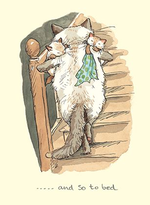M222 AND SO TO BED.....by Anita Jeram A Greeting card by www.TwoBadMice.com