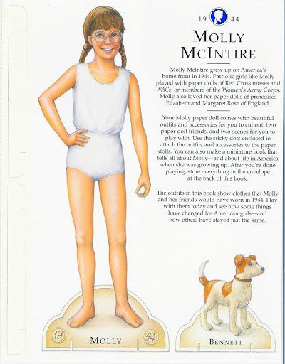 American Girl Molly Paper DollS.This From Freebird583 - MaryAnn - Picasa Web Albums