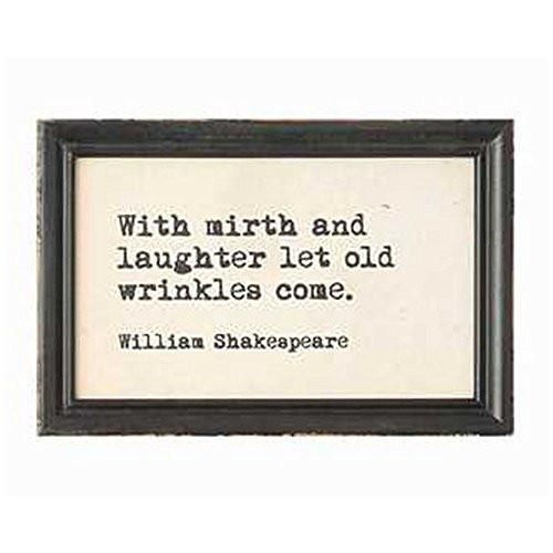 Famous quotes from historical authors and artists framed and ready for wall hanging. Four different styles available. From William Shakespeare, the English poet