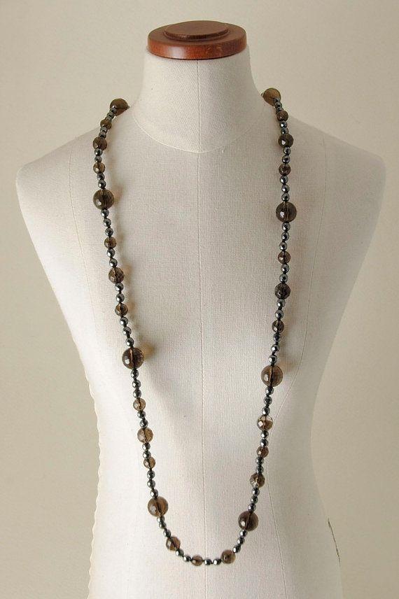 Smoky Quartz and Hematite necklace