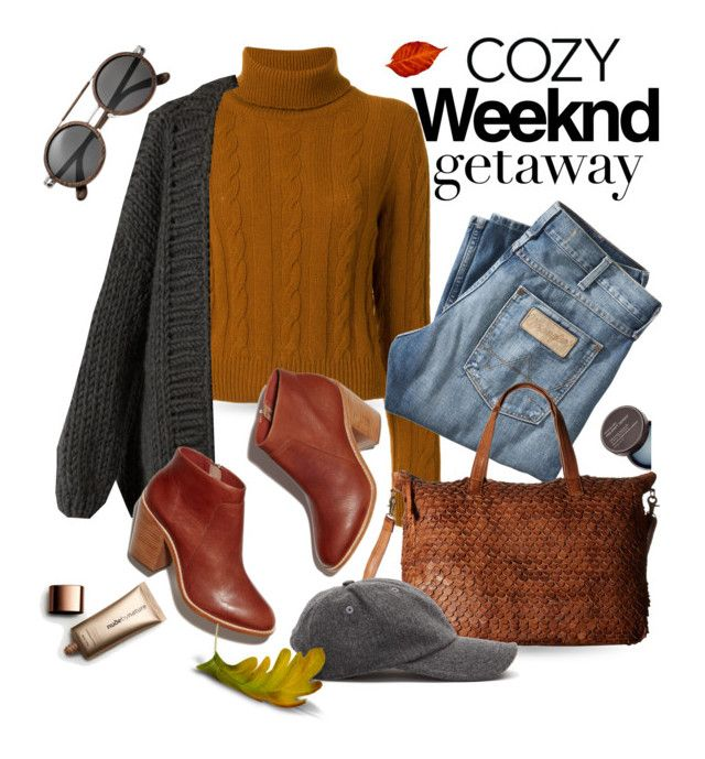 """""""Weekend Getaway"""" by queenofsienna ❤ liked on Polyvore featuring The Gigi, I Love Mr. Mittens, Wrangler, Day & Mood, Spalwart, Nude by Nature and Earth"""