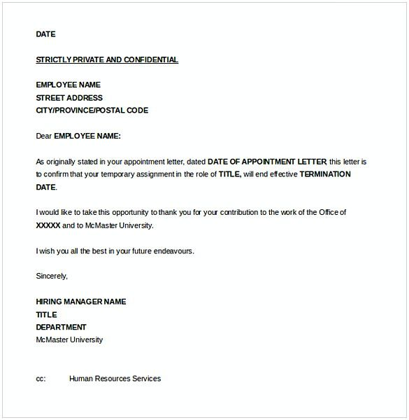 Employment Separation Letter Template from i.pinimg.com