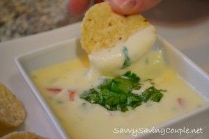 queso-dip - super easy appetizer to make for a crowd!