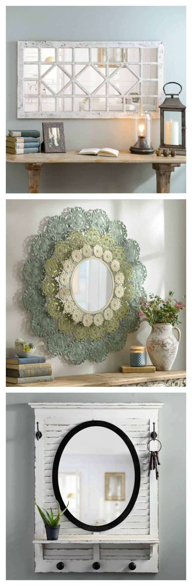 Take a moment to reflect. Shop our beautiful collection of decorative mirrors and find the perfect one to reflect your style. From frameless to vintage to metal and classic, they all add depth and charm to any wall. Enjoy 20% off ALL wall mirrors through 9/5!