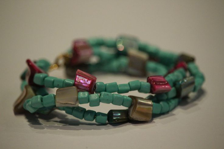 3 stand turquoise bracelet by 1OfakindHomemade on Etsy