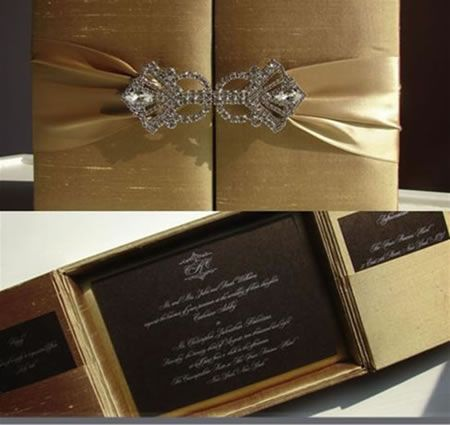 elegant wedding invitations with crystals