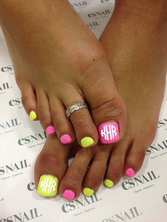 Monogrammed nails!!  Because why not?!  Circle or vine available.