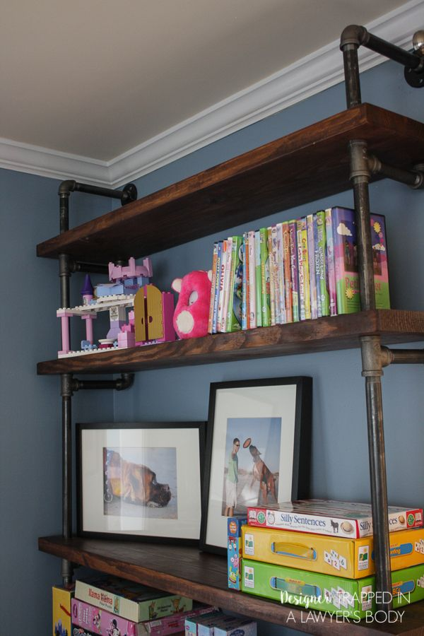 Best Industrial Pipe Projects Images On Pinterest - Pipe bookshelves