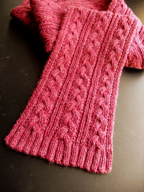Free Pattern Braid Cable Reversible Hiking Scarf Knit Crochet