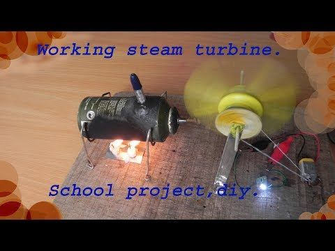 How to make a working  steam turbine model for school projects,diy. - YouTube