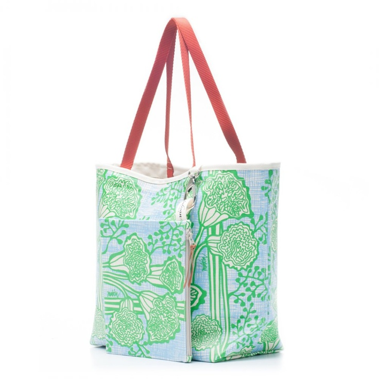 Bags & Totes: Siesta Tote Green Grass $87