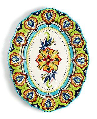 Espana Dinnerware, Bocca Scalloped Oval Platter - Casual Dinnerware - Dining & Entertaining - Macy's