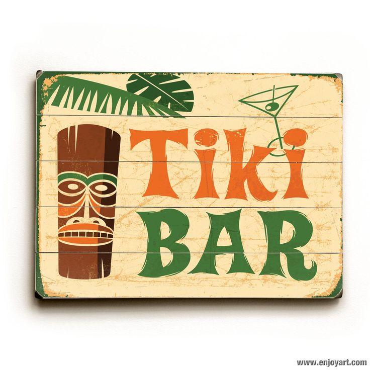 Tiki Bar Wood Sign   Tiki Bar/ Pool Side/Backyard ...