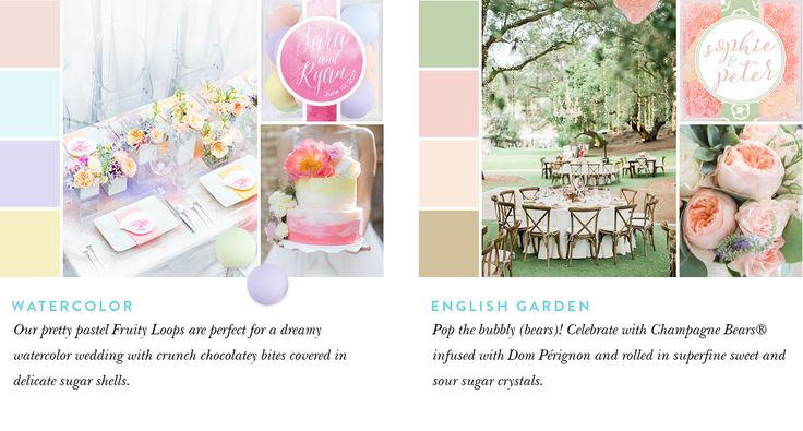 Get Inspired by Watercolor and English Garden wedding themes