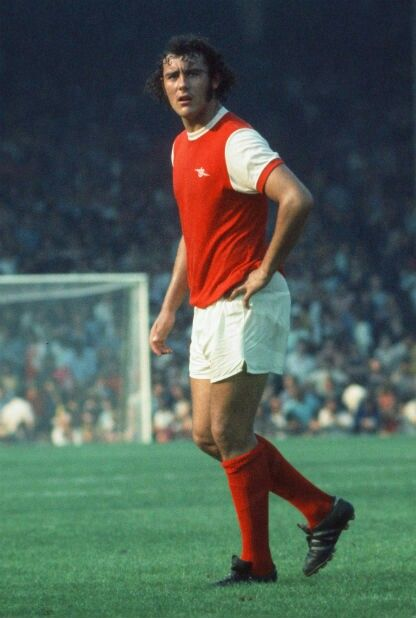 Ray Kennedy of Arsenal in 1973.