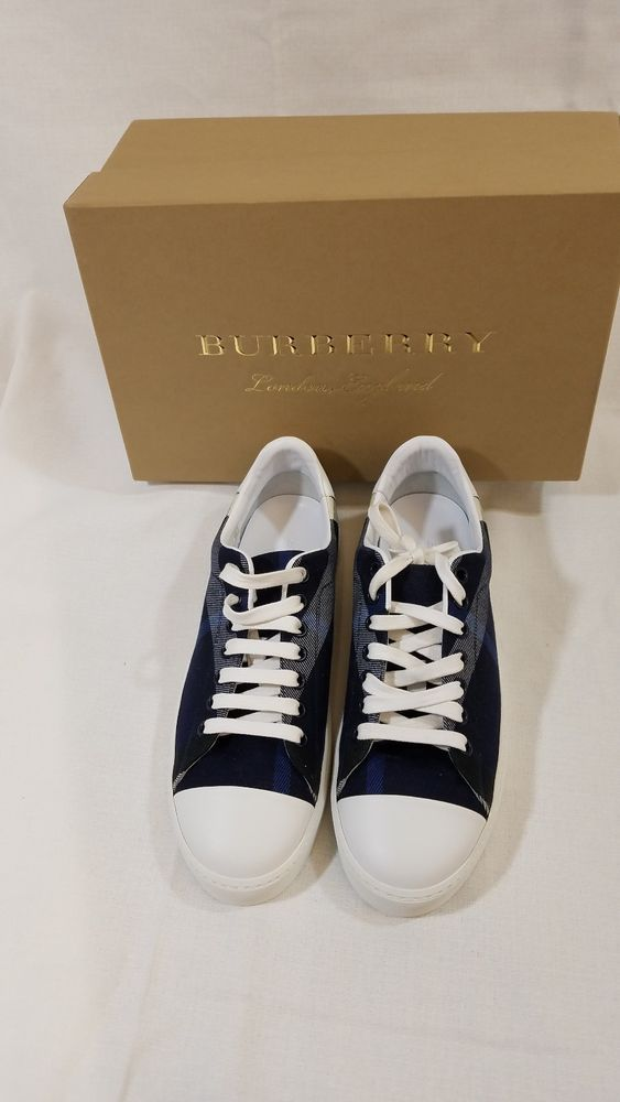 Burberry Westford Check Size Sneaker Blue Plaid Low Top 8 Us 38 Eu 08nkPOw