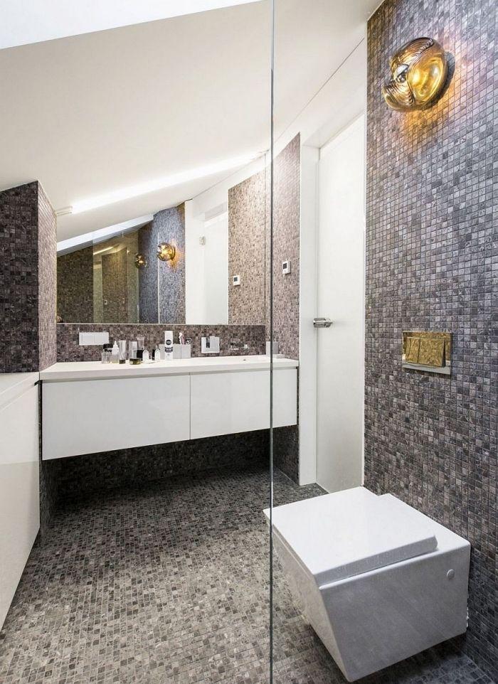 ▷ 1001 + designs impressionnants d\u0027une petite salle de bain moderne - Salle De Bain Moderne Grise