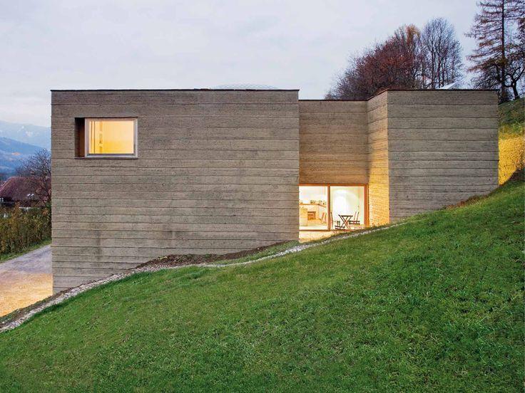 boltshauser architekten lehmhaus martin rauch schlins. Black Bedroom Furniture Sets. Home Design Ideas
