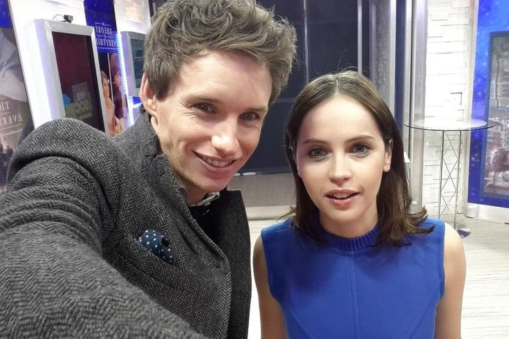 Eddie Redmayne & Felicity Jones on Good Morning America  to talk The Theory of Everything Movie with Amy Robach!. (January 08, 2015)