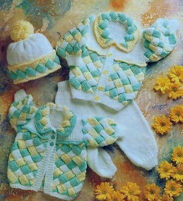 3 Piece Stunning Chunky Baby Knitting Pattern
