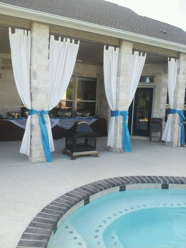 Outdoor Drapes   Under Deck   Tie With Rope