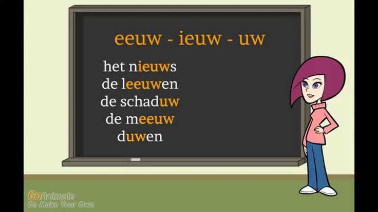 Spelling eeuw, ieuw, uw