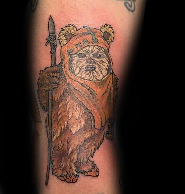 60 Ewok Tattoos für Männer - Star Wars Ink Ideen - Mann