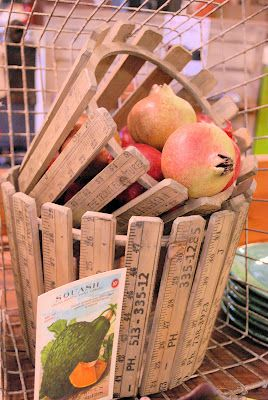 Rulers Upcycled...LOVE this!  Search antique stores for old yardsticks.  They are also darling toppers for old kid-size step stools.