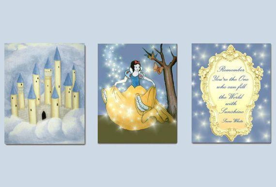 Princess Wall Art Snow White Girl Nursery Decor Disney