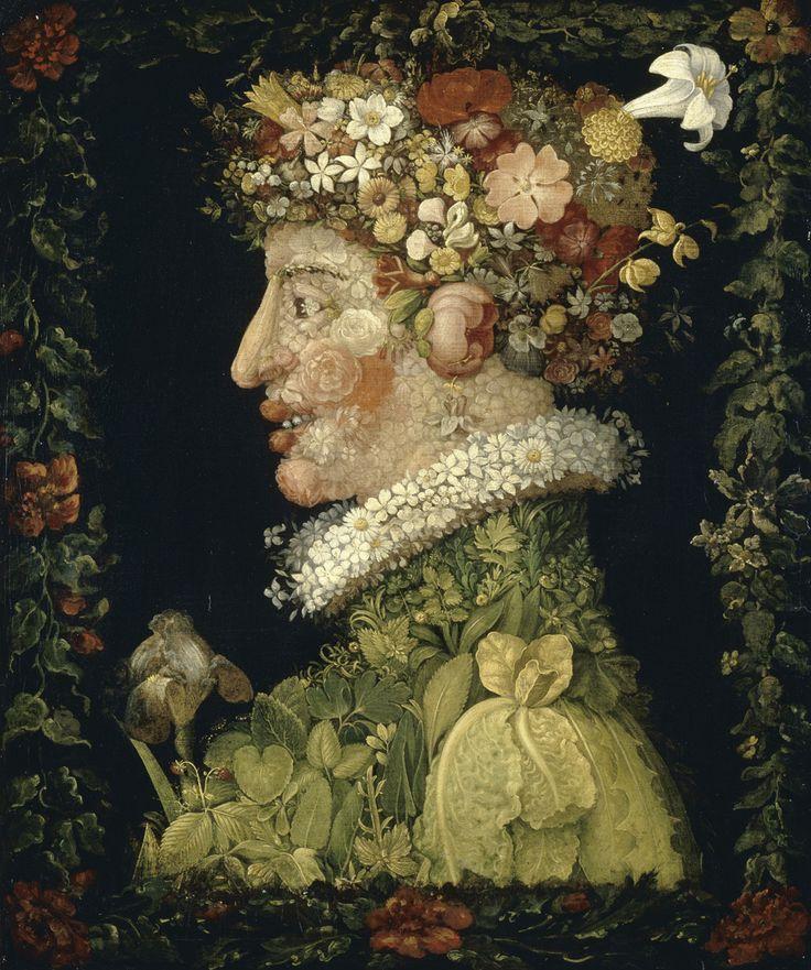 Giuseppe Arcimboldo, Printemps, 1573. Lieu inconnu, disparu