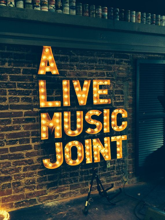 Music Venue Sign Custom Marquee Sign Custom Signs