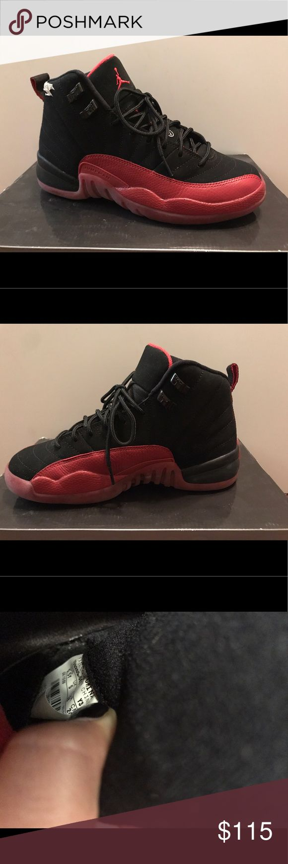 Jordan 12's Red and Black 12s Suede and leather size 5.5 Air Jordan Shoes Athletic Shoes