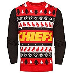 NFL Kansas City Chiefs Light-Up One Too Many Ugly Sweater, Large
