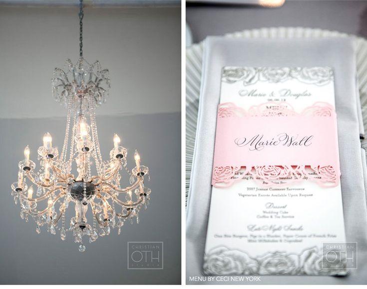 Luxury Wedding Invitations by Ceci New York - Romantic Rose Wedding