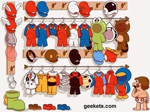 Mario Bros Closet!Design Inspiration, Colin John, Mario Wardrobes, Funny Troll, Bros Closets, Nintendo Nostalgia, Mario Bros, Mario Hoy, Pone