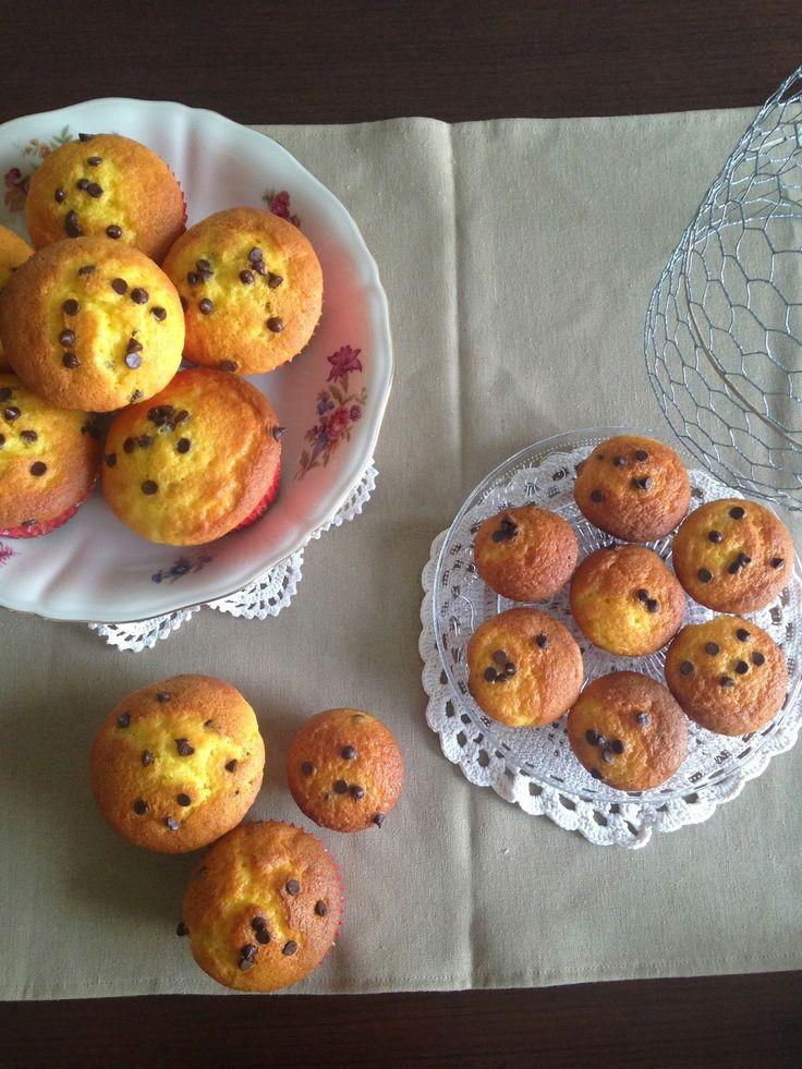LaGallinaRosita: Ricetta illustrata: Muffins con gocce di cioccolato
