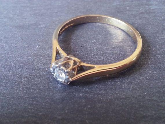 Solitaire Diamond Engagement Ring Single Diamond Ring by ArahJames