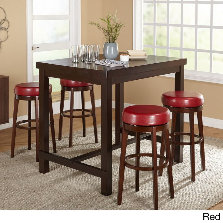 Simple Living Avenue Espresso Rubberwood 5-piece Pub Set