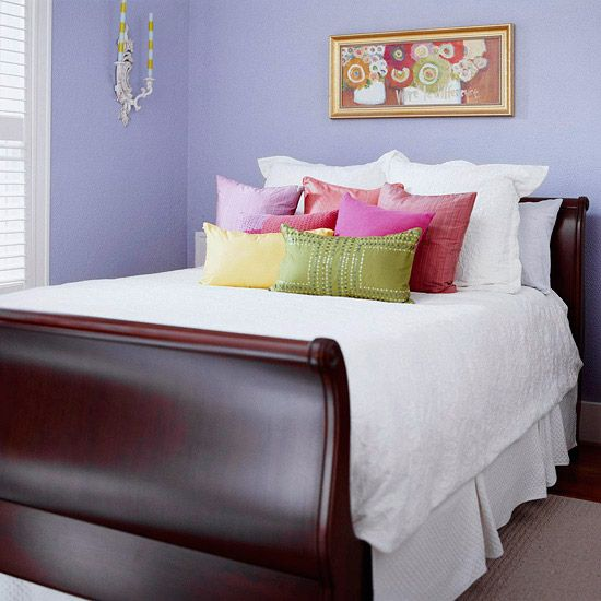 Sleigh beds were originally called French beds. The substantial frame created a natural focal point.